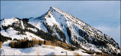 View of Crested Butte ski area.