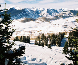 A view from Crested Butte ski area.
