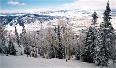 A view of the Yampa Valley from Steamboat ski area.