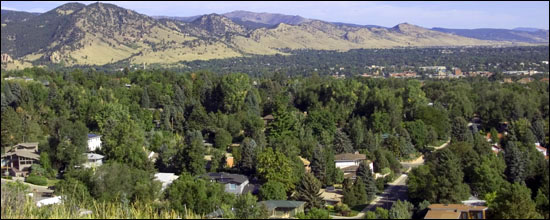 The lush neighborhoods of west Boulder.