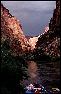[Rafting the Colorado River.]