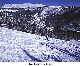 Corona trail at Eldora.