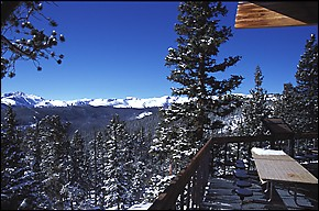 View of the Continental Divide from the summit of Eldora.