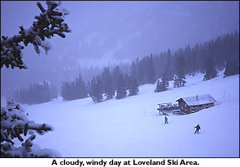 A windy day at Loveland Ski Area