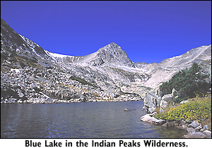 Blue Lake in the Indian Peaks Wilderness in Colorado