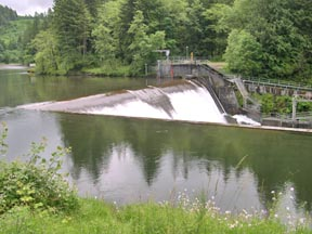 Marmot Dam on the Sandy River in Oregon, before removal.
