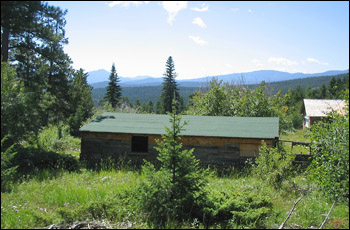 A building at the Blue Bird Mine complex in Caribou Ranch Open Space Park.