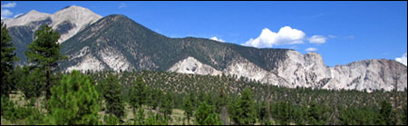The span of the Mount Princeton massif