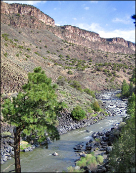 The route from Cebolla Mesa to the Rio Grande River in New Mexico.